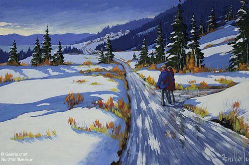 Rémi Clark, 'Une belle fin de journée', 20'' x 30'' | Galerie d'art - Au P'tit Bonheur - Art Gallery