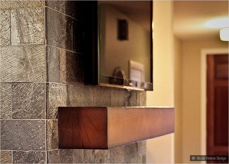 Slate Subway Tile Fireplace For The Home Pinterest