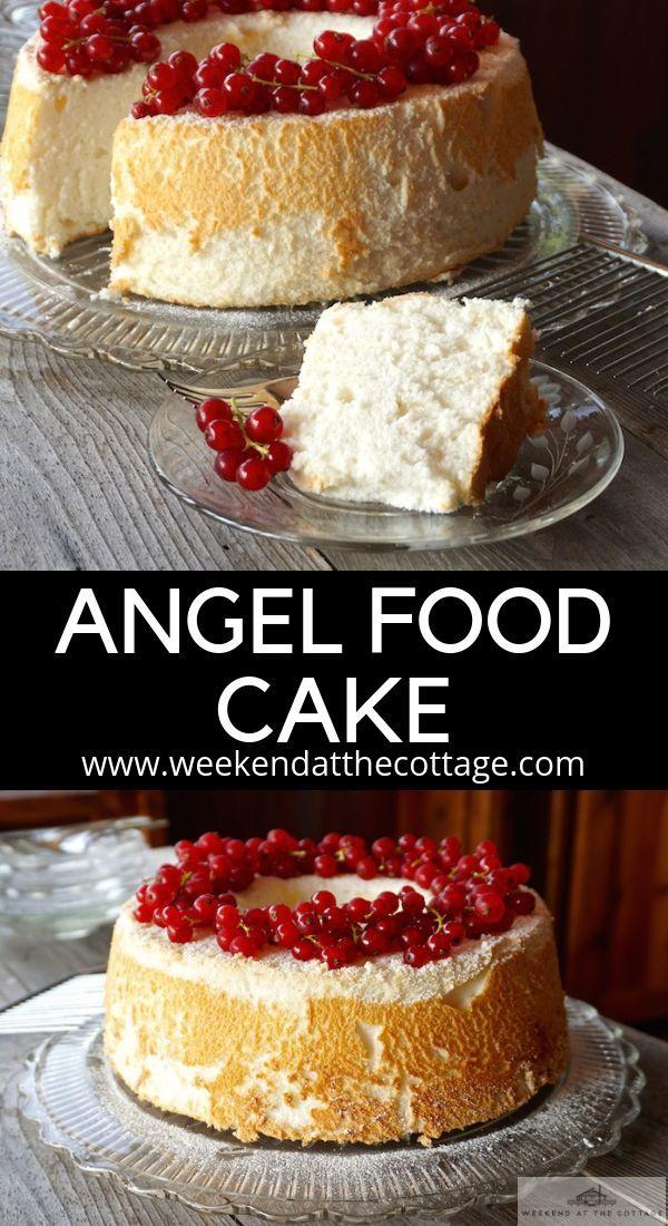 Angel Food Cake Recipe Homemade Cakes Christmas Desserts