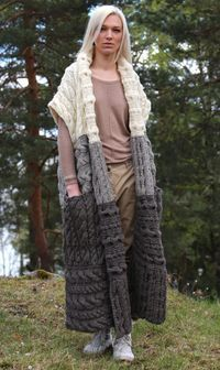 Instant Download PDF pattern. Hand knitted long di IlzeOfNorway