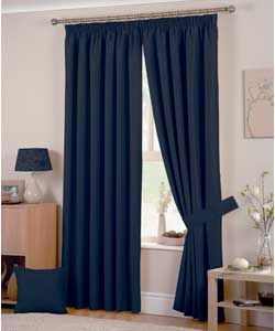 Hudson Lined Curtains - 168x183cm - Navy. lounge