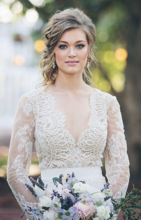 Classy updo wedding hairstyle idea; Photo: Rob & Wynter Photography...
