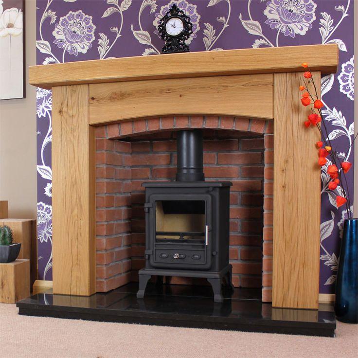 Oak Fire Surrounds | Arched Rustic Oak Fire Surround - OakFireSurrounds.co.uk
