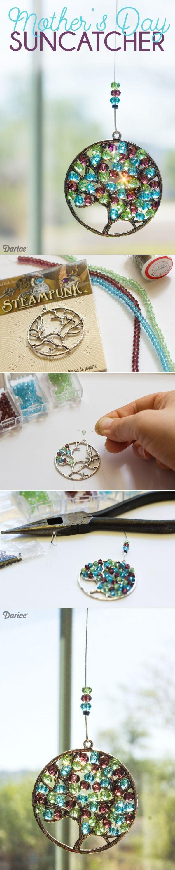 DIY Mother's Day Beaded Suncatcher