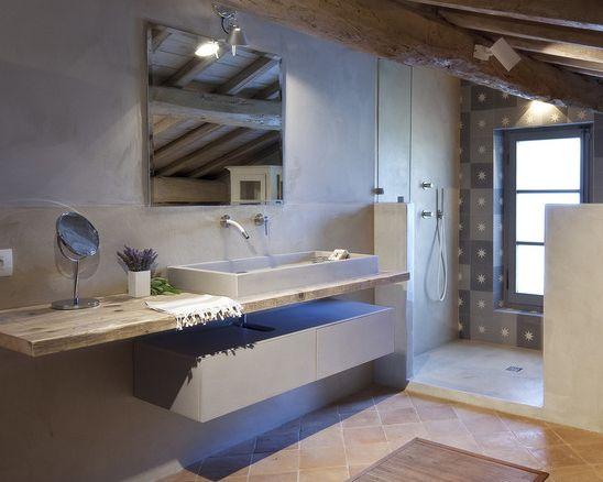 Les 25 meilleures id es concernant carrelage terre cuite for Douche italienne avec fenetre