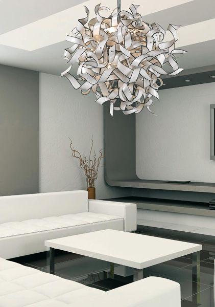 RESIDENTIAL RETAIL Residential Nastro Kajal #murano #glass #chandelier #design #handmade