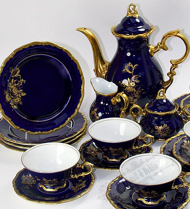 Arzberg Kaffeeservice Kobaltblau**