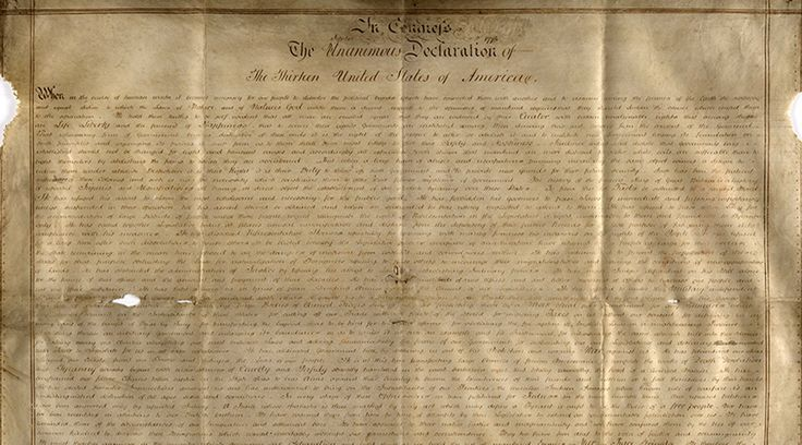 Rare copy of US Declaration of Independence discovered in England