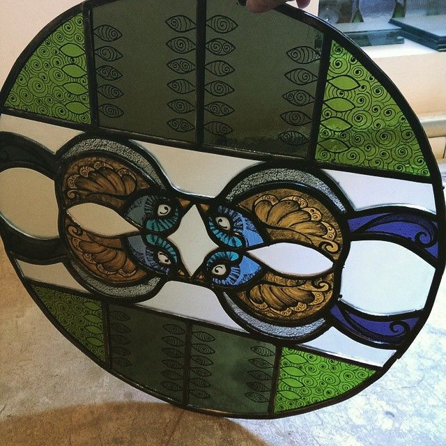 My own design. Stained glass birds