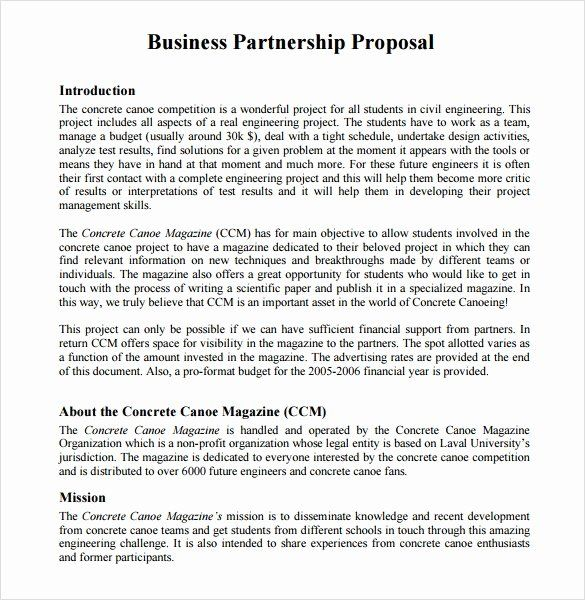 Sample Business Proposal Letter For Partnership New Sample Partnership Proposal 13 Business Proposal Letter Business Proposal Sample Business Proposal Template