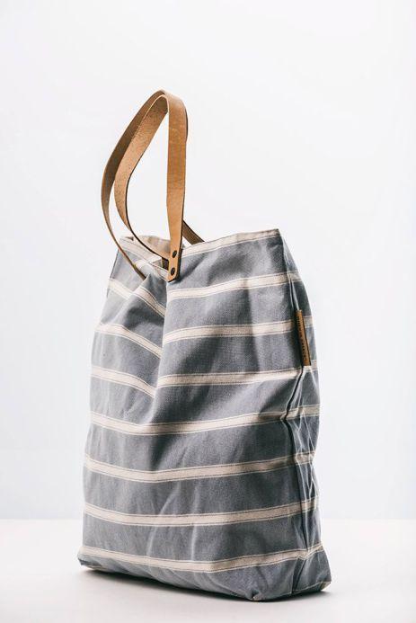 When in Greece | Stripes Canvas beach bag
