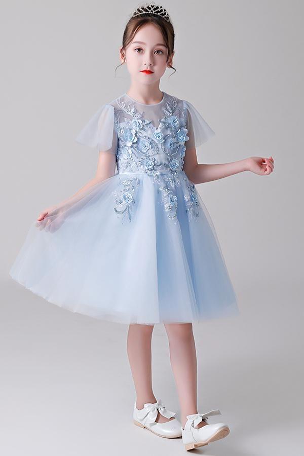 5a079ed50ac Short Sleeves Flower Girl Dresses  flowergirl  flowergirldresses   girlsdresses  angrila  sleeves
