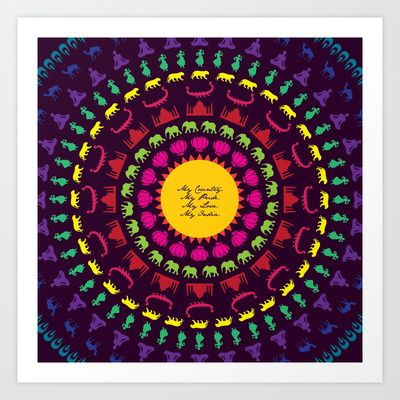 My India.  Art Print by vidhi shah - $14.56