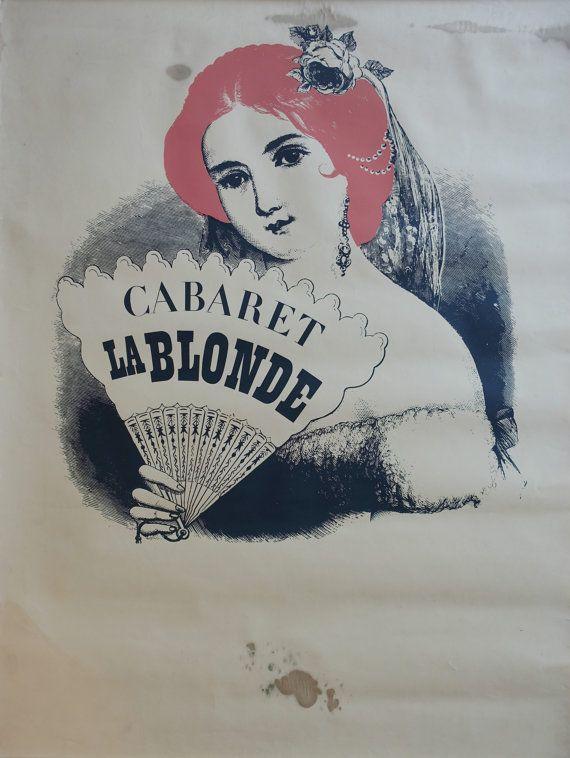 "1940s Cabaret ""La Blonde"" in Tivoli (White Version) - Original Vintage Poster"