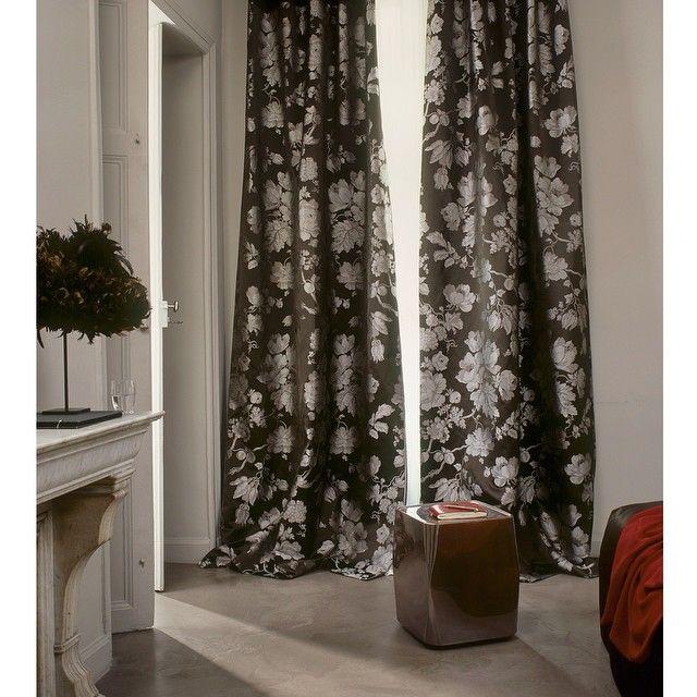Beautiful Bagatelle curtains from Verel de Belval ! #creationsmetaphores #vereldebelval