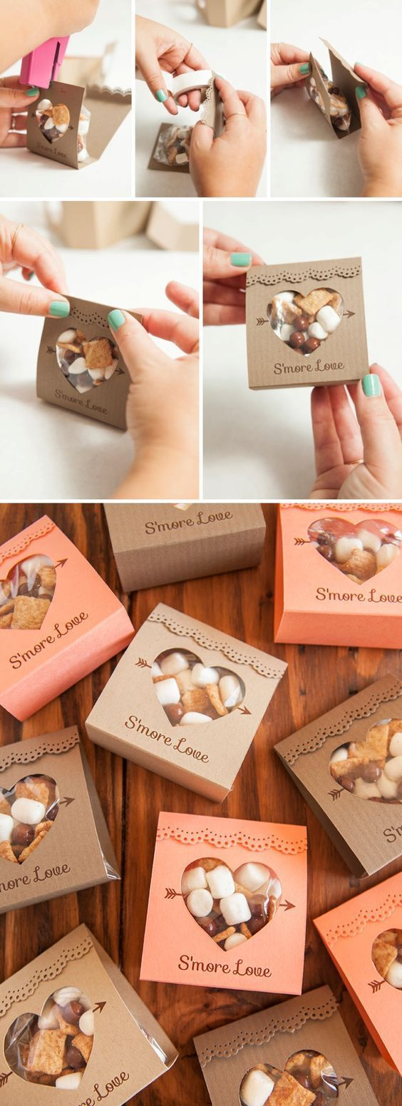 Adorable idea for s'mores wedding favors - so unique! Free design too!: