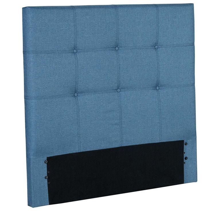 Henley Upholstered Kids Headboard Panel - Denim Blue - Full - Fashion Bed Group, Dk Denim