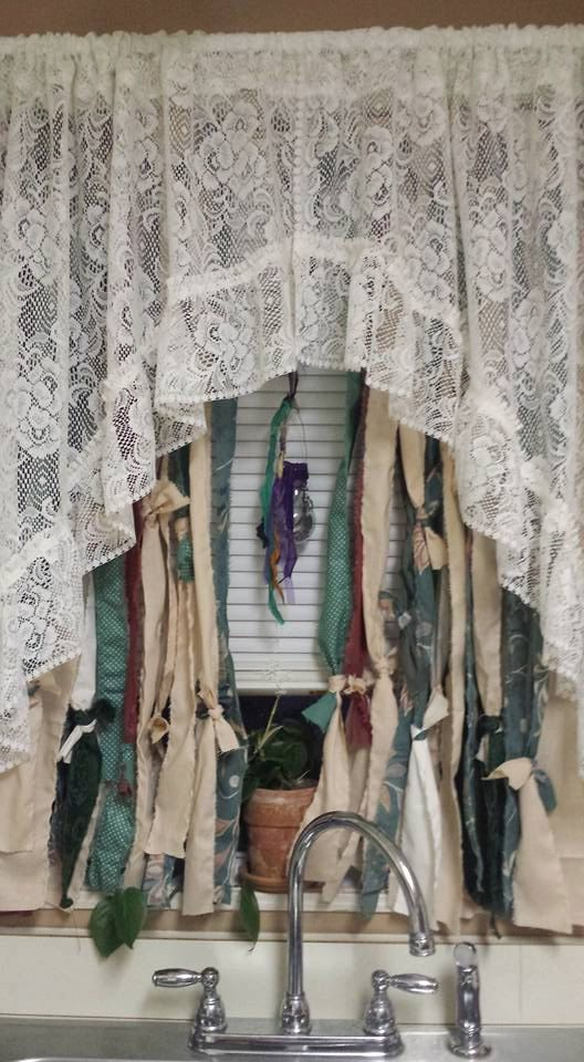 Boho Rag Curtain Custom Order With A String Of Beads Hippie Style Curtains Bohemian USD By YaYaHippieEmporium