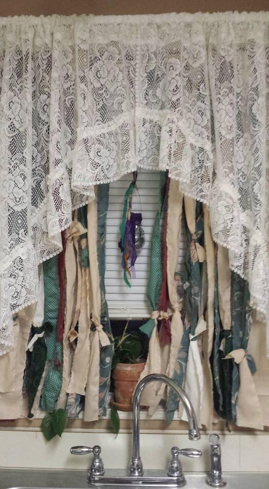 Boho Rag Curtain Custom Order With A String Of Beads Hippie Style Curtains Bohemian USD By YaYaHippieEmporium