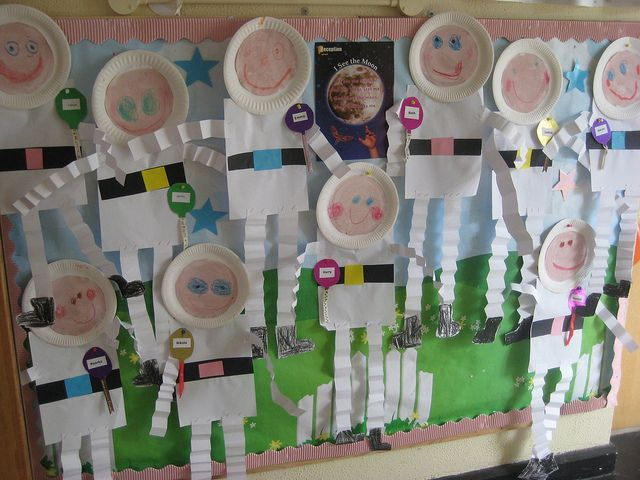 Paper plate astronauts