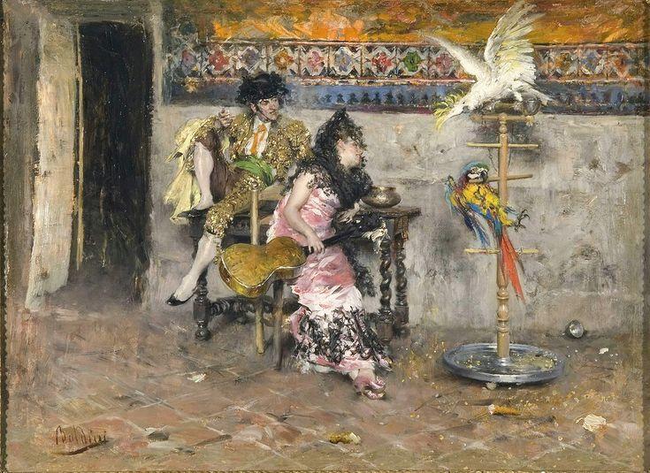 Ζευγάρι με Ισπανικό κοστούμι και δυο παπαγάλους (1872-73)