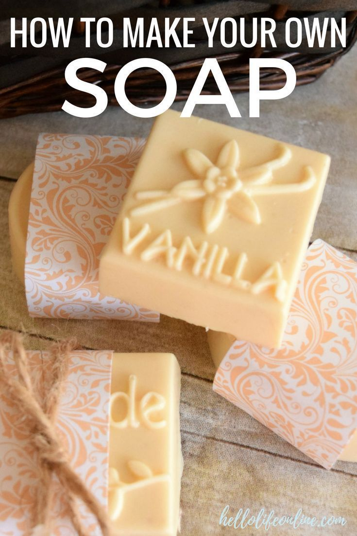 DIY Soap Bars Make your own soap bars with this easy to