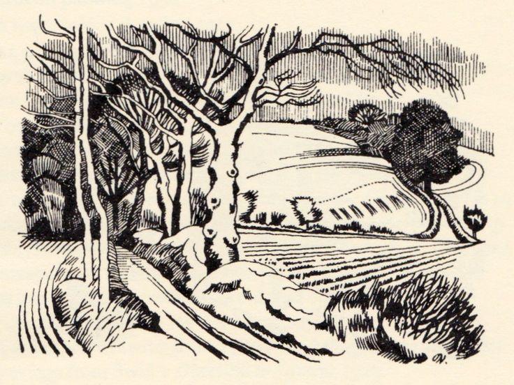 John Nash. Ploughed fields in Winter.