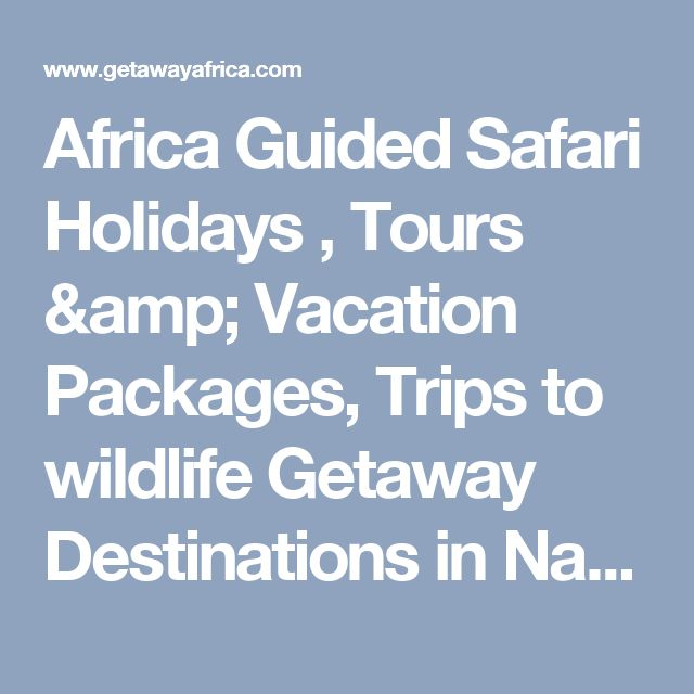 Africa Guided Safari Holidays , Tours & Vacation Packages, Trips to wildlife Getaway Destinations in Namibia, Botswana, Tanzania, Mozambique
