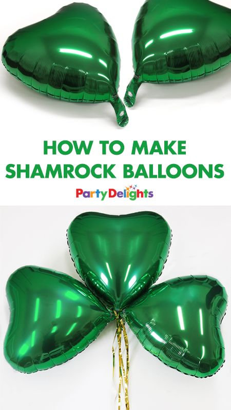 Planning a St Patrick's Day party? Complete your St Patrick's Day decorations with these easy DIY shamrock balloons. Super easy to make with green heart-shaped balloons, follow our simple step-by-step tutorial to find out what to do. This party DIY would also be perfect for an Irish-themed party!