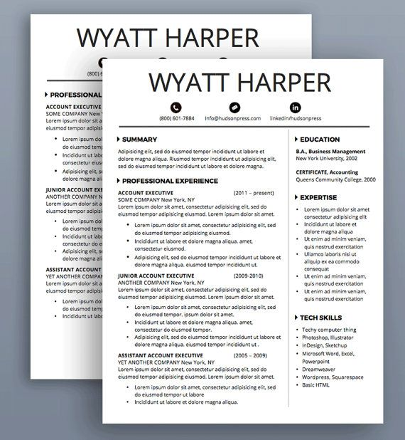 19 best Resume Design images on Pinterest Resume design, Design - resume format on microsoft word 2007