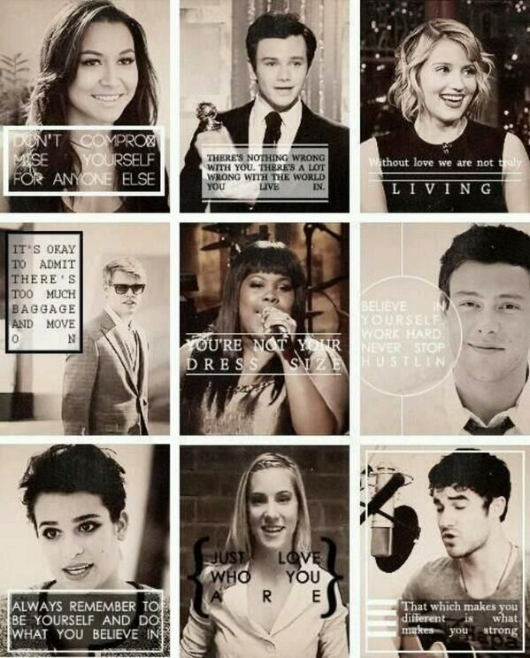 Inspiring words from the cast of glee