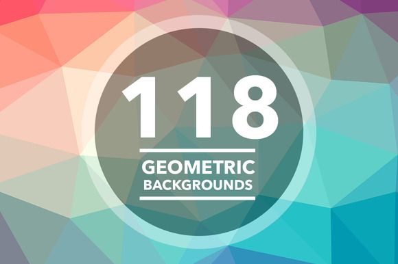 118 Geometric Triangle Backgrounds by caiocall on Creative Market