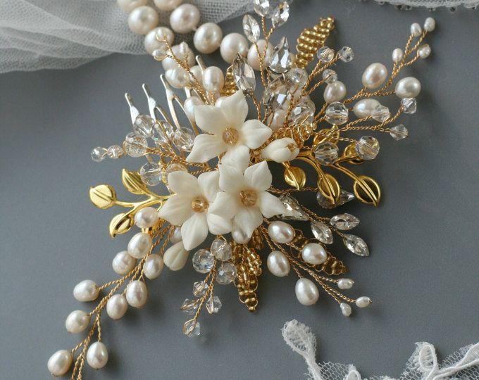 Pin By Olga Yudina On Hair Styles In 2020 Bridal Hair Accessories Flower Bridal Hair Accessories Wedding Hair Accessories