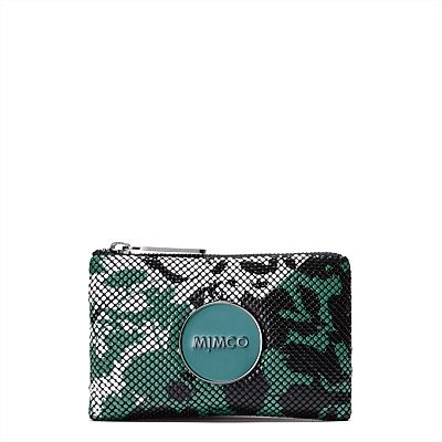 Women's Wallets, Pouches & Tech Accessories | Mimco - ENAMOUR MIM POUCH in 'Jade Mesh'