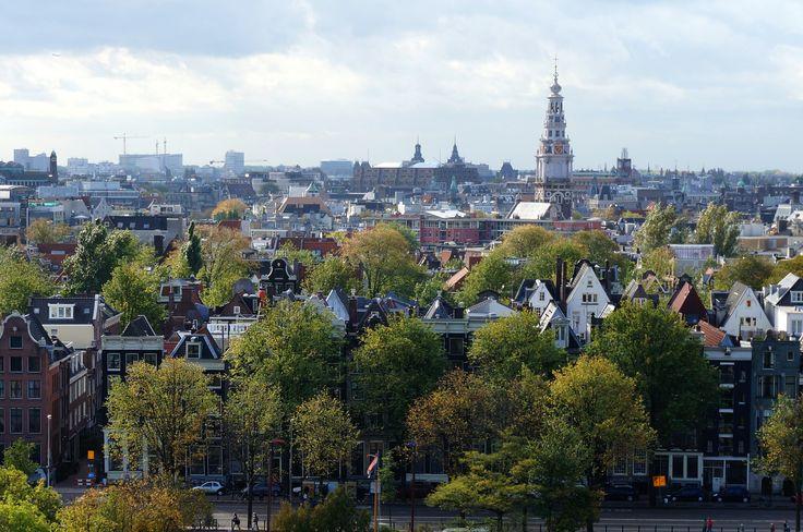 Vue d'#Amsterdam depuis la Bibliothèque publique. #Hollande #PaysBas