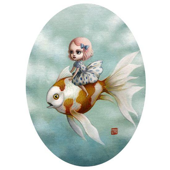 © mab graves http://mabgraves.com/: Abby, Girls, Artworks Illustration Design, Mab Graves, Goldfish Mab, Illustrations, Goldfish Http Mabgraves Com, Visual Art, Kids Rooms