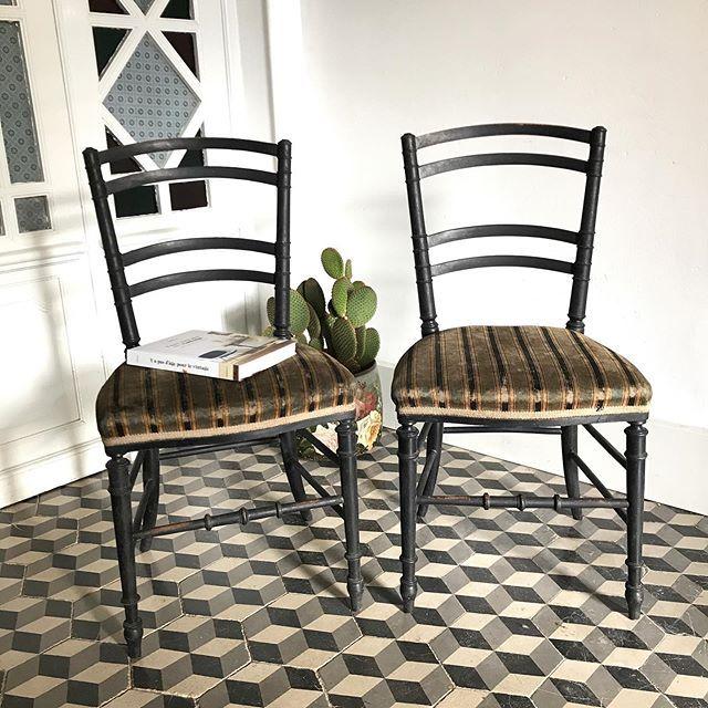 Chaises Napoleon Iii En Velours Vert Et Noir Pieds En Bois Noirci Www Brocanteavenue Com Ou Mp Avendre Forsale In 2020 Home Decor Furniture Dining Chairs