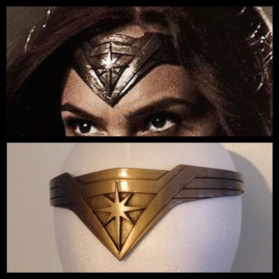 This is a fan made replica Wonder Woman Tiara headband in the style seen in Batman V Superman: Dawn of Justice one size fits most. The tiara headband is