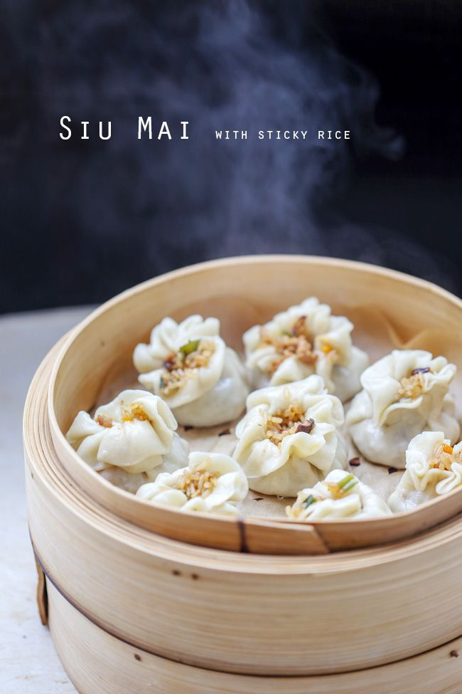siu mai-Shao Mai, steamed pork dumplings with sticky rice filling