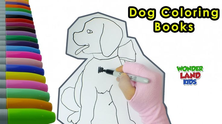 Dog coloring page  / Watch Coloring Pages for Kids / Coloring page for a...