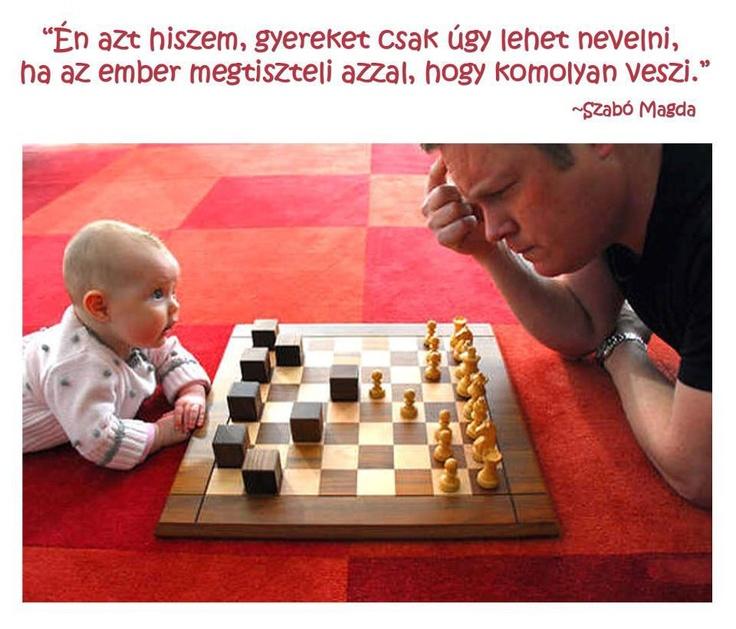 Szabó Magda idézete a gyereknevelésről. A kép forrása: Kreatív Harmony # Facebook