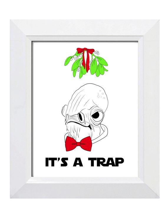 Star Wars Digital Print Christmas Card Admiral by BurlapAndBanthas, $5.00