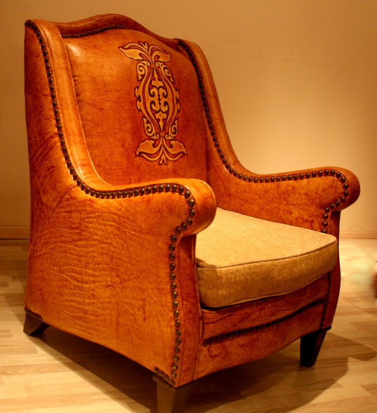 Leather chair with Fabric