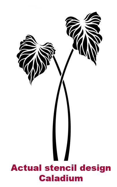 Large Stencil Caladium - Wall Stencils for Easy Decor - Better than wall decals.