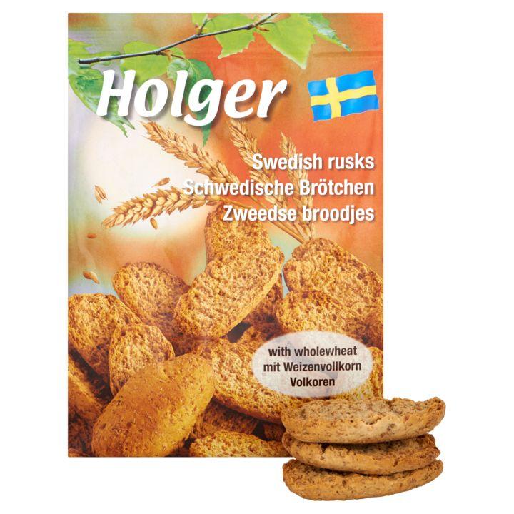 Holger Zweedse Broodjes Volkoren  (Bevat tarwe)