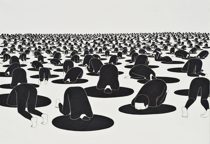• 불면의 낮, Sleepless days - 김대현 Daehyun Kim - 무나씨 드로잉 Moonassi drawing