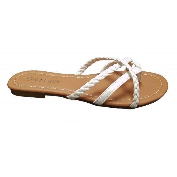 6b6297d92 Elegant Womens Fashion Braided Criss Cross Strappy Flip Flop Flat ...