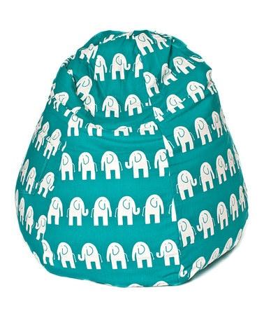 Take A Look At This Teal White Elephant Tear Drop Bean Bag Chair By Print