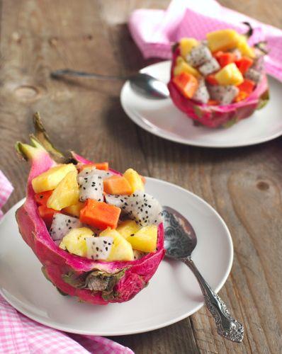 Craquez pour la Salade de fruits exotiques qui apportera une touche de légèreté vitaminée à votre repas de fêtes