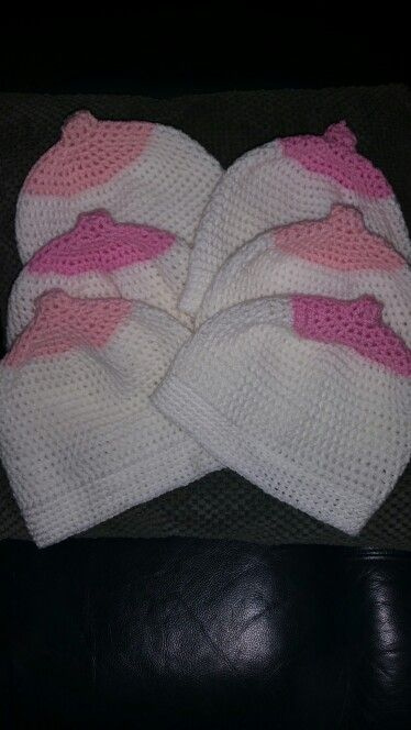 Breast Beanies  for the Mothers  day  breast cancer run.